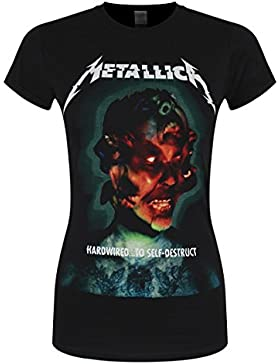 Metallica Hardwired.to Self-Destruct Camiseta Mujer Negro