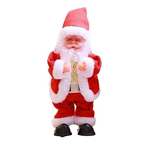 Z- overlord - babbo natale danzante con musica, giocattolo elettrico, simpatico e danzante, decorazione natalizia