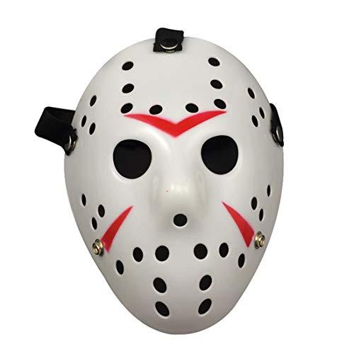 Layeri Jason Halloween Kostüm Maske Für Halloween Kostüm Rave Anonyme Versammlungen Ereignisse Cosplay-Maskerade Für Männer Jungs Alter Mann Frauen Kinder Mädchen