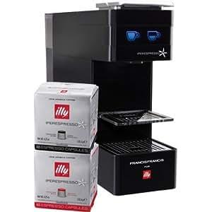 Machine Illy Y3 Iperespresso Noir 108 Capsules Offertes