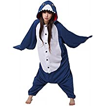Moollyfox Kigurumi Pijamas Unisexo Adulto Traje Disfraz Adulto Animal Pyjamas Tiburón L