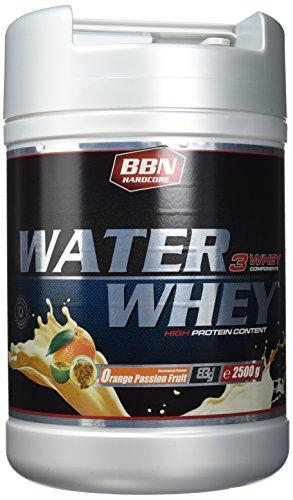 BBN Hardcore Water Whey Protein Orange Passion Fruit, 1er Pack (1 x 2.5 kg) -