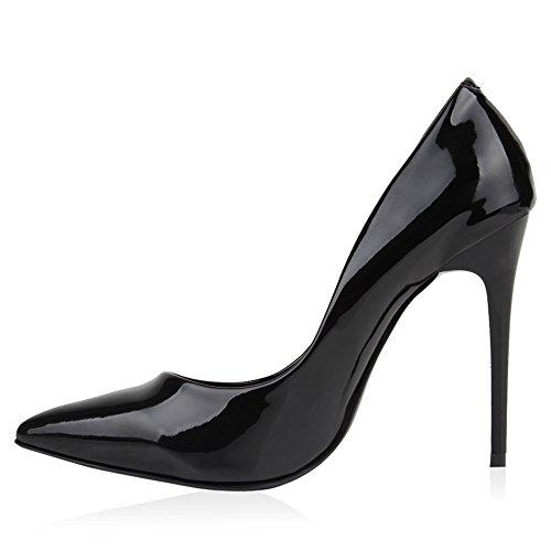 Stiefelparadies , Hi-Top Slippers femme Noir - Noir