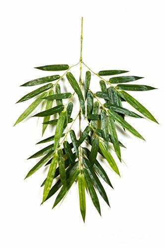 artplants – Künstlicher Bambuszweig BENJIRO mit 45 Blättern, grün, 90 cm – Deko Zweig/Bambus Dekoration