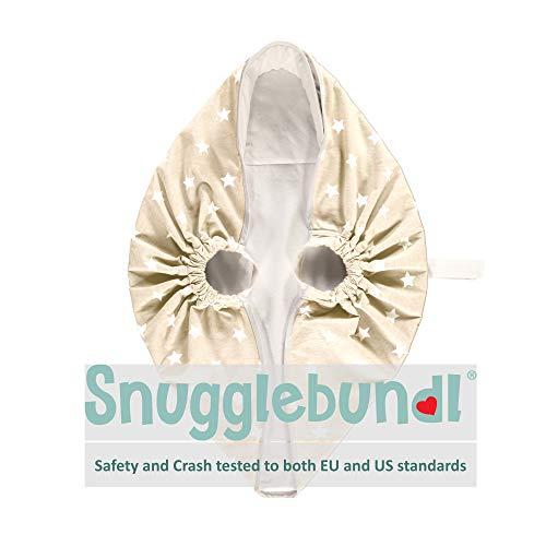 Snugglebundl - Die Babydecke mit Griffen (Creme mit weißen Sternen)