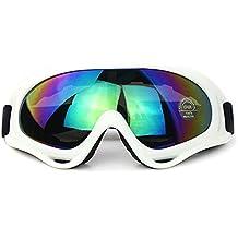 sduck al aire libre gafas de esquí, Deportes de Invierno Off Road motor gafas de moto nieve Snowboard Gafas de nieve/A los rayos UV protección Multicolor lente Gafas Gafas de esquí, red, blanco