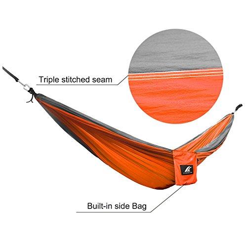 LEADSTAR 300×200 cm Mehrpersonen Nylon Hängematte Ultraleicht Tragbar Belastbarkeit bis 300kg – Orange - 6
