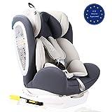 LETTAS Kinder Autositze Sitzschale Baby autositz 0+1/2/3 (0-36 kg) mit Protektoren seitliche Isofix ECE R44/04(Grau-2)