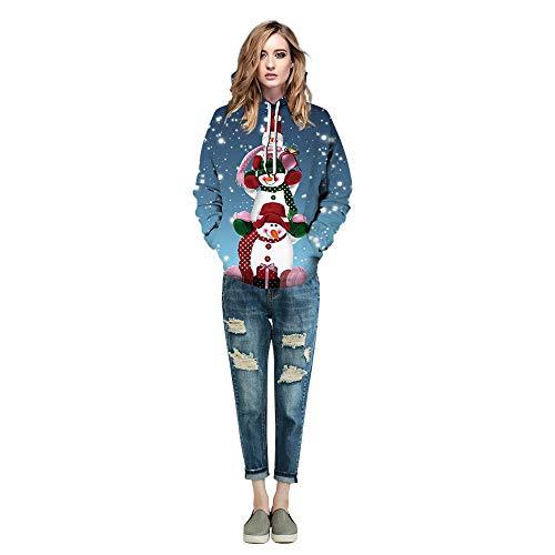 Kostüm Tasche M&ms Von - Fancyart Schneemann-Weihnachtspaar-Strickjacke-Polyester 3D Druckte Kleidung, Cosplay-Stadiums-KostüM-Show-Geburtstagsgeschenk-Leichten Pullover-Strickjacke Hoodie,Ms,M