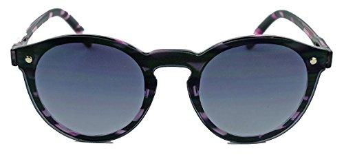 Flat Lens Sonnenbrille 50er Jahre Vintage Look Pantobrille Hornbrille in tollen Farben V27 (Berry)
