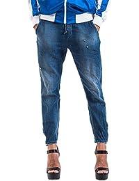 Meltin'Pot - Jeans LORELI D0128-UB390 para mujer, estilo recto, ajuste suelto, talle baja