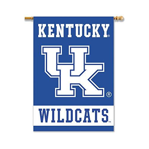 Kentucky Blue Pole (NCAA Kentucky Wildcats Unisex NCAA beidseitigen 28-by-40Haus Banner mit Pole Sleeve, royal, One Size)