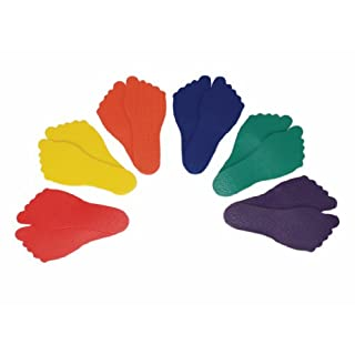 American Educational Products Feet Markers, Assorted Colors, Set of 6