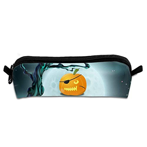 Funny Halloween Pirate Pumpkin Pen Pencil Case Zipper Pouch Storage Bag