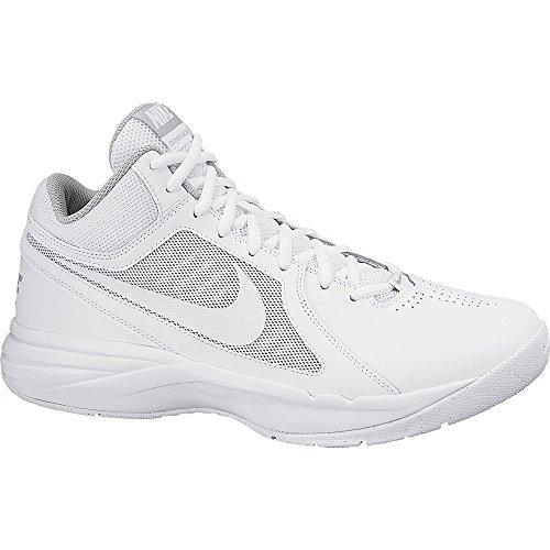 Nike The Overplay VIII Herren Basketballschuhe Weiß (White/White-Metallic Silver)