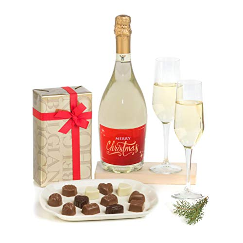 Hay Hampers Premium Prosecco & Luxury Belgian Chocolates Gift Hamper Box