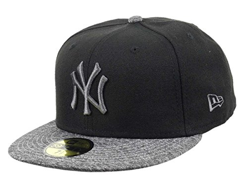 New Era Herren Caps/Fitted Cap Grey Collection NY Yankees 59Fifty schwarz 7 1/8-56,8cm