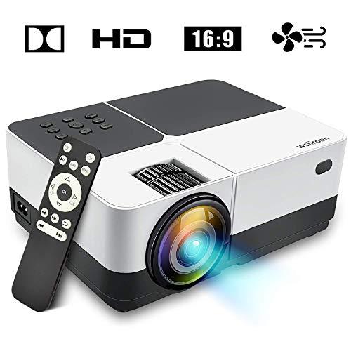 DBSCD LED-Projektor, 2019 neuester tragbarer Film-Videoprojektor im Freien, Heimkino-LCD-Projektor-Unterstützungs1080p HDMI VGA Handels-USB Sd mit 170