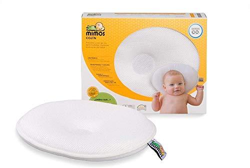 Cojín Mimos® - Prevención y corrección de deformidades craneales posicionales en bebés. TALLA...