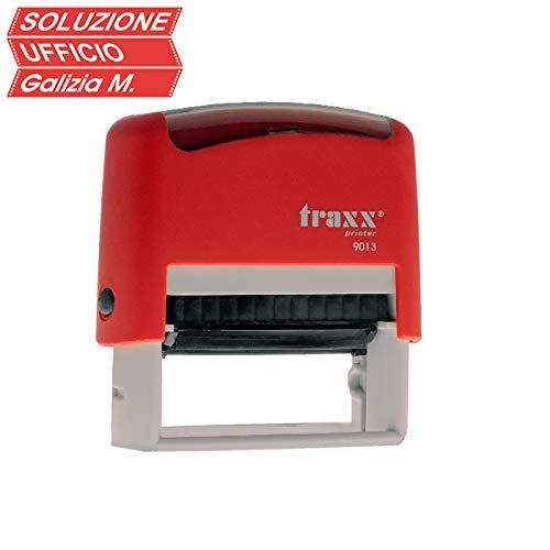 Timbro TRAXX 9013 Autoinchiostrante Personalizzato TRAXX 9013 22X58 mm Qualita' Professionale