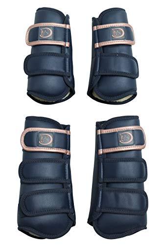 4er Set Dressurgamaschen Premium-Soft, weiß von RidersDeal, Größe: VB -