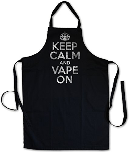 KEEP CALM AND VAPE ON Tablier De Cuisine Cuisson Gril BBQ Barbecue APRON CUISSON GRIL BBQ Barbecue