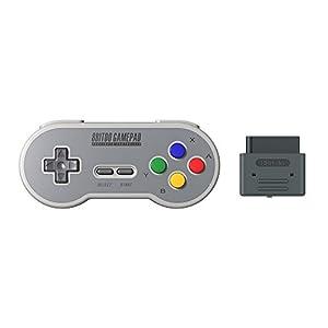 YIKESHU 8Bitdo SF30 Retro Controller mit Empfänger für original Super Nintendo (Set)