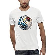 Camiseta 3D DROIDS D2R2 BB8 de Realidad Aumentada - PIXEL EVOLUTION - Hombre
