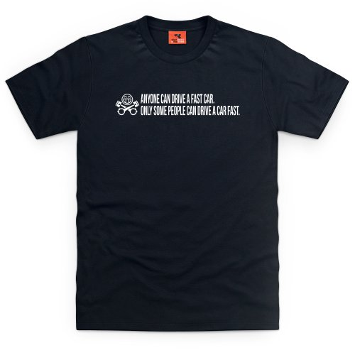 PistonHeads Fast Car T-Shirt, Herren Schwarz