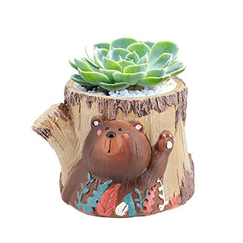 macinta rot Keramik Crafts Keramik Sukkulente Töpfen Lovely Cartoon Bear dekorative Rock Garden Blumentöpfe Pflanzgefäßen Container One size stil 1 Stil Voller Rock