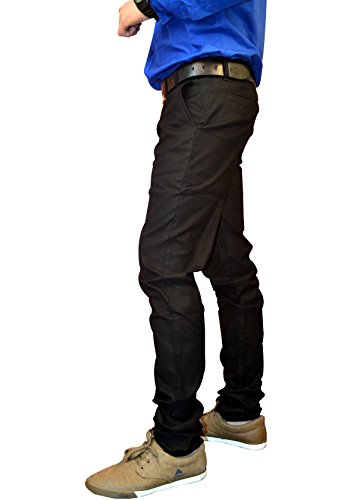 Nation Polo Club Mens Linen Slim Trouser (Ct410330 _Black _30)