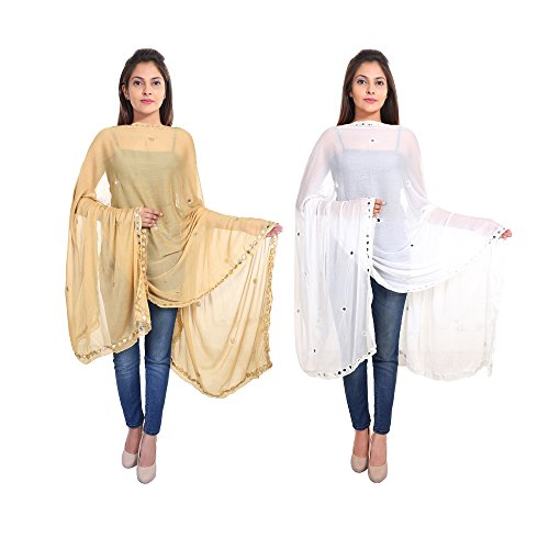Zaributi Pure Chiffon Embroidered Dupatta