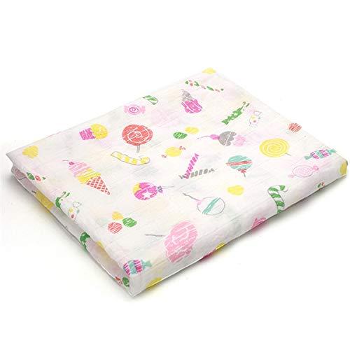ZQBQY Babydecken Weiche Neugeborene Windeln Baby Handtücher Musselin Quadrate Gaze Infant Handtuch 1 Stück 100% Baumwolle No2