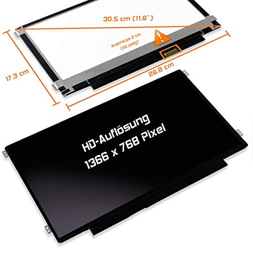 "Laptiptop 11,6"" LED Display Screen matt Ersatz für Asus Vivobook E200ha-Fd0004ts HD Bildschirm Panel"