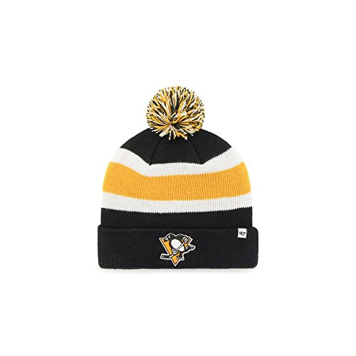 8492723d1b0d3 47 Brand NHL Pittsburgh Penguins Breakaway Cuff Knit Beany Hat One Size  Mütze Forty Seven