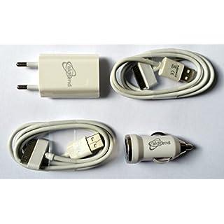 AKTrend® 4in1 Ladeset Auto USB KFZ Ladegerät Ladekabel Netzteil für Apple iPhone 2G / 3G / 3GS / 4 / 4S / 4G iPod Touch: 1. / 2. / 3. / 4. Gen. iPod Nano: 1. / 2. / 3. / 4. / 5. Video / 6. Gen. iPod Classic: 3G / 4G / 5G / 5.5G / 6G iPod Shuffle: 2. / 3. Gen.. iPod Video, Photo, Mini , AK7OT0