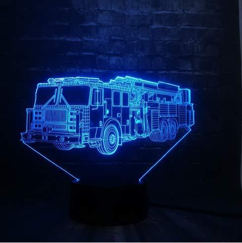 Fahrzeug Auto Track Toy 3D LED Nachtlicht Dekor USB Lampe Schlafzimmer Schlaf Licht 7 Farbwechsel Weihnachtsgeschenk Spielzeug (Plug-in-track-leuchten)
