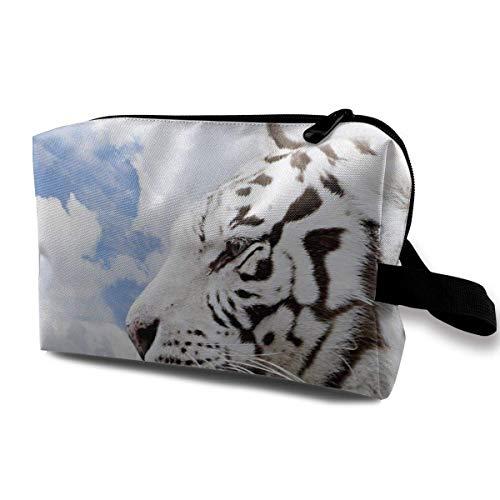 Reisemake-up Kosmetiktasche Bürstentasche Northeastern White Tiger Zipper Pen Organizer Tragetasche hängende Kosmetiktasche Tiger Stand Bag