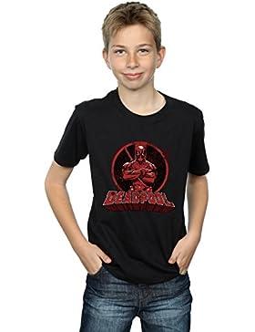 Absolute Cult Marvel Niños Deadpool Crossed Arms Logo Camiseta