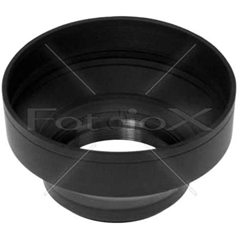 Fotodiox–Paraluce in gomma 3pezzi 72mm/3Section Rubber Lens Hood, Sun Shade