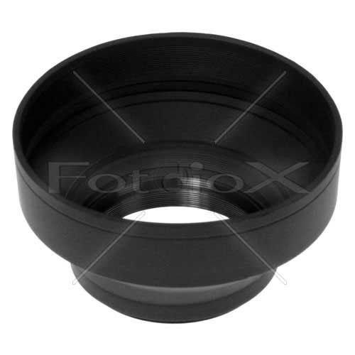 Gegenlichtblende-Gummi dreiteilig 77mm / 3-Section Rubber Lens Hood, Sun Shade 77mm für Zoom-Objektive von 24 bis 210 mm Brennweite -