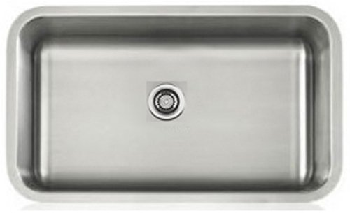 Lenova LS16603 Apogee 16-Gauge Stainless Steel Single Bowl Rectangle Undermount Kitchen Sink by Apogee - 16 Kitchen Single Sink Gauge Bowl
