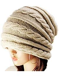 Demarkt Elégant Bonnet de Coiffure Tressé Tricotage Décor Femme