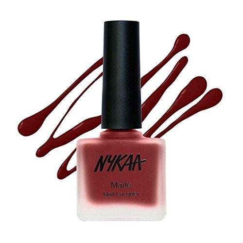 Nykaa Matte Nail Enamel - Ruby Blaze 120 (9ml)