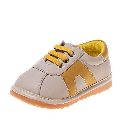 Little Blue Lamb - Chaussures à sifflet | Baskets beige et jaune - Pointure: 20