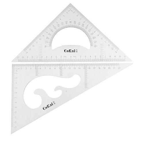 BronaGrand Dreieck Lineal-Set 30//60 und 45//90 Grad 2 St/ück