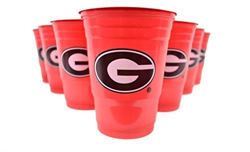 NCAA Fan Shop Beer Pong Set. REP Ihre Schule, 'Alma Mater oder Favorite Team mit dem klassischen Spiel der College Beer Pong-Kommt mit 22Tassen und 6Ping Pong Bälle, Georgia Bulldogs