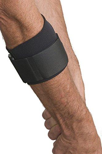 Cho-Pat Druckkissen-Bandage schwarz Golferarm Tennisarm Bandage bei Überlastung des Unterarms Epikondulitis (L = 28-32 cm)