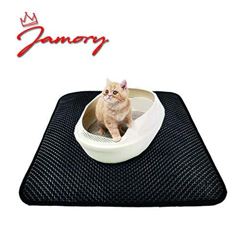 Jamory Katzenstreu Katzenklo Doppelte Matte Unterlage Decke Vorleger Teppich Wasserdichte Katze (S)