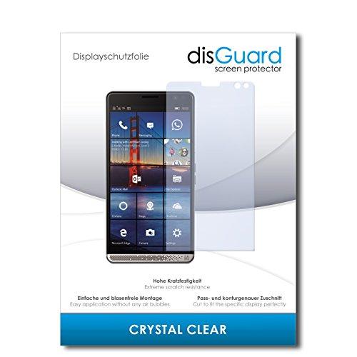 disGuard® Displayschutzfolie [Crystal Clear] kompatibel mit HP Elite X3 [2 Stück] Kristallklar, Transparent, Unsichtbar, Extrem Kratzfest, Anti-Fingerabdruck - Panzerglas Folie, Schutzfolie